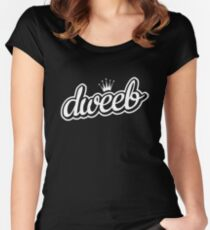 dweeb with crown Women's Fitted Scoop T-Shirt