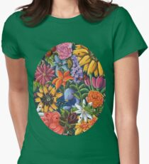 Floral Abundance  Womens Fitted T-Shirt