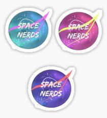 Pastel space nerds set Sticker