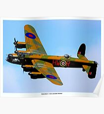 AVRO LANCASTER BOMBER: Vintage World War II Airplane Print Poster