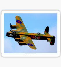 AVRO LANCASTER BOMBER: Vintage World War II Airplane Print Sticker