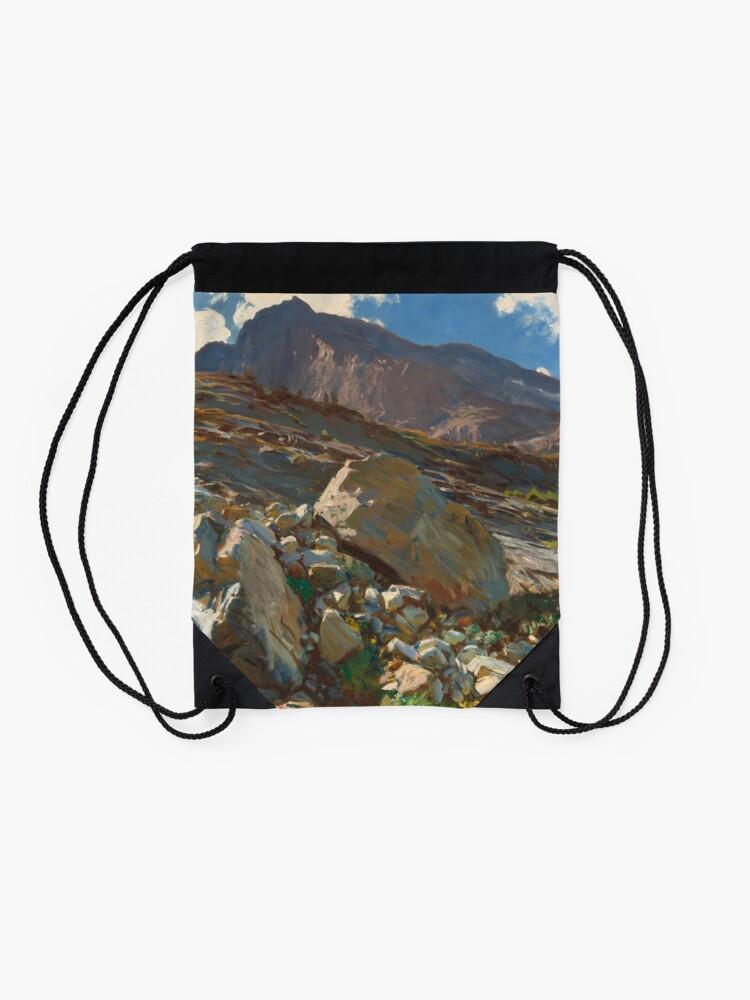 Alternate view of Simplon Pass Oil Painting by  John Singer Sargent Drawstring Bag