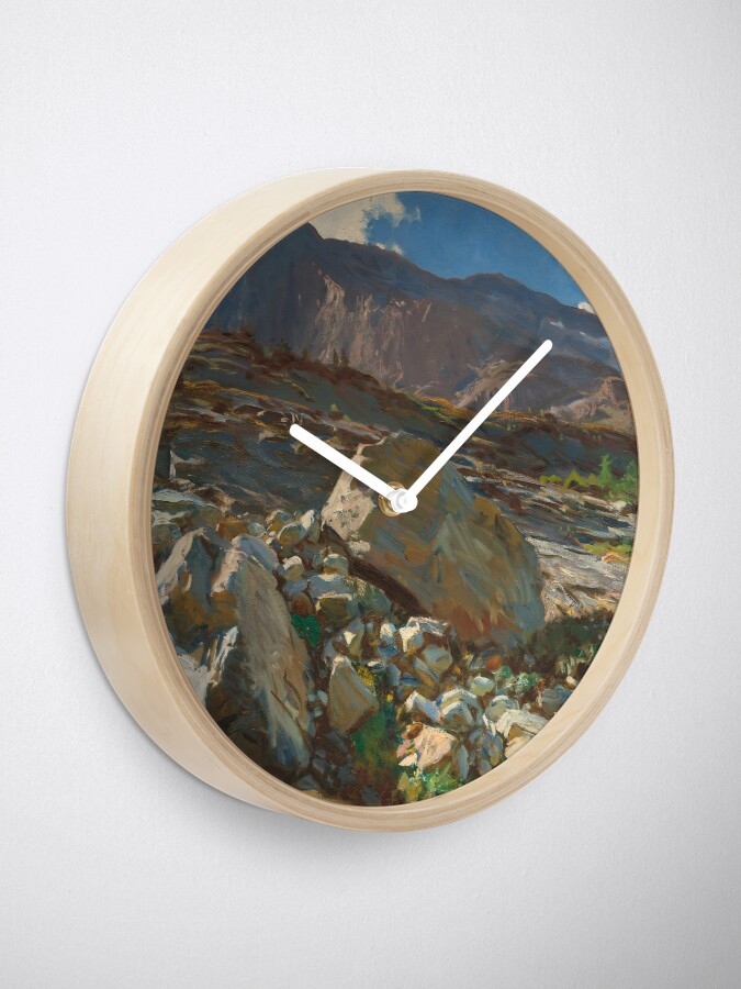 Alternate view of Simplon Pass Oil Painting by  John Singer Sargent Clock