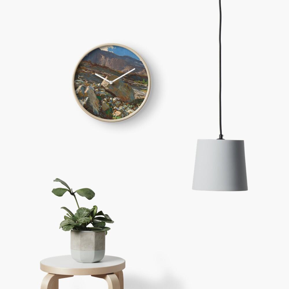 Simplon Pass Oil Painting by  John Singer Sargent Clock