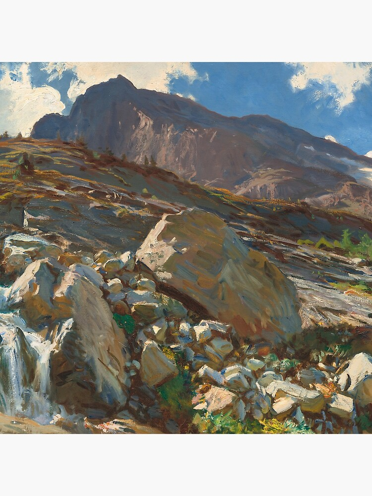 Simplon Pass Oil Painting by  John Singer Sargent by podartist
