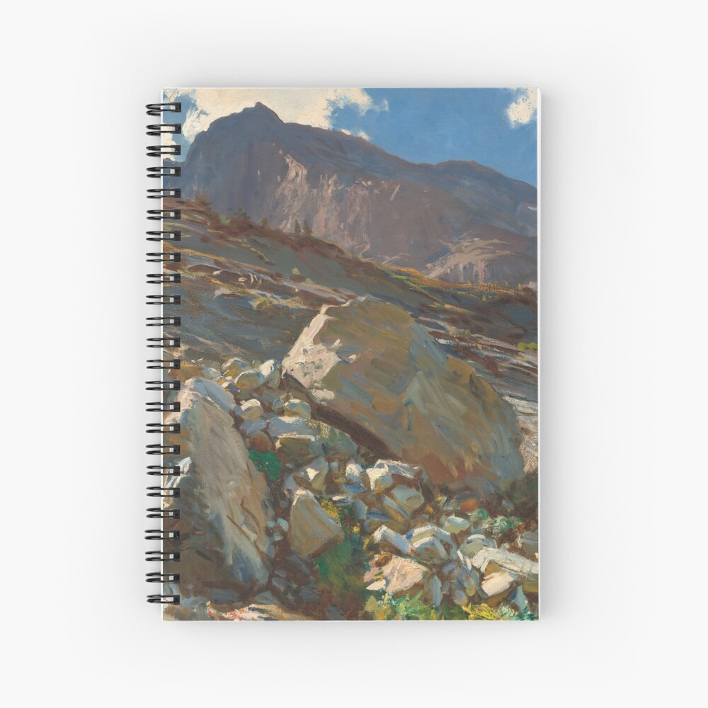 Simplon Pass Oil Painting by  John Singer Sargent Spiral Notebook