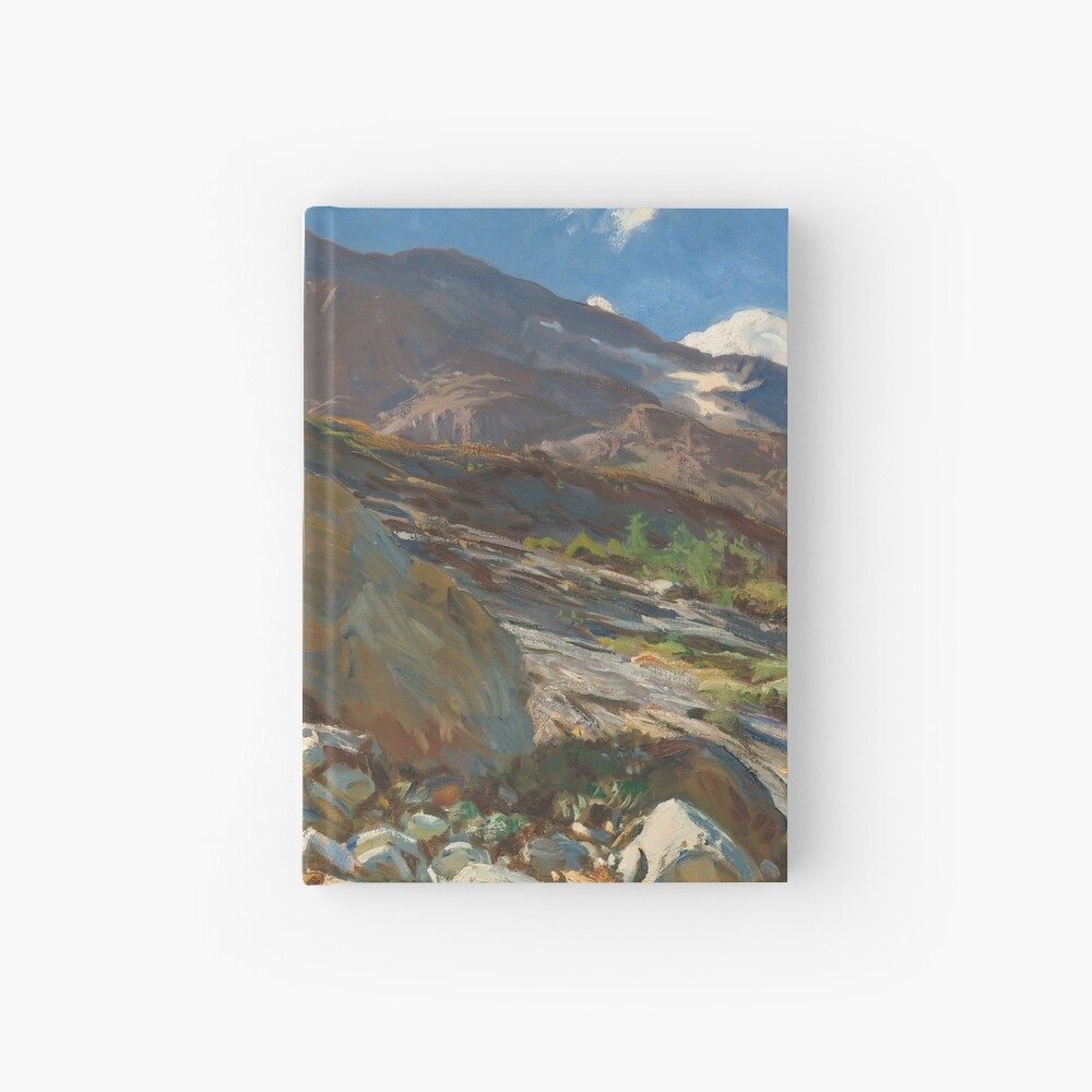 Simplon Pass Oil Painting by  John Singer Sargent Hardcover Journal
