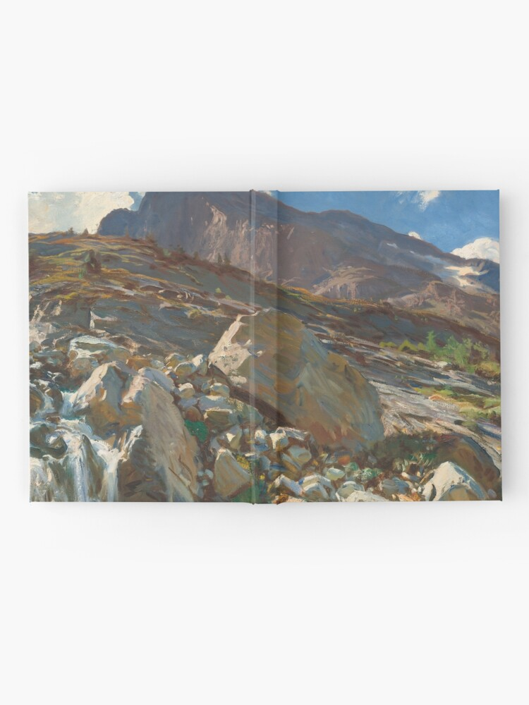 Alternate view of Simplon Pass Oil Painting by  John Singer Sargent Hardcover Journal