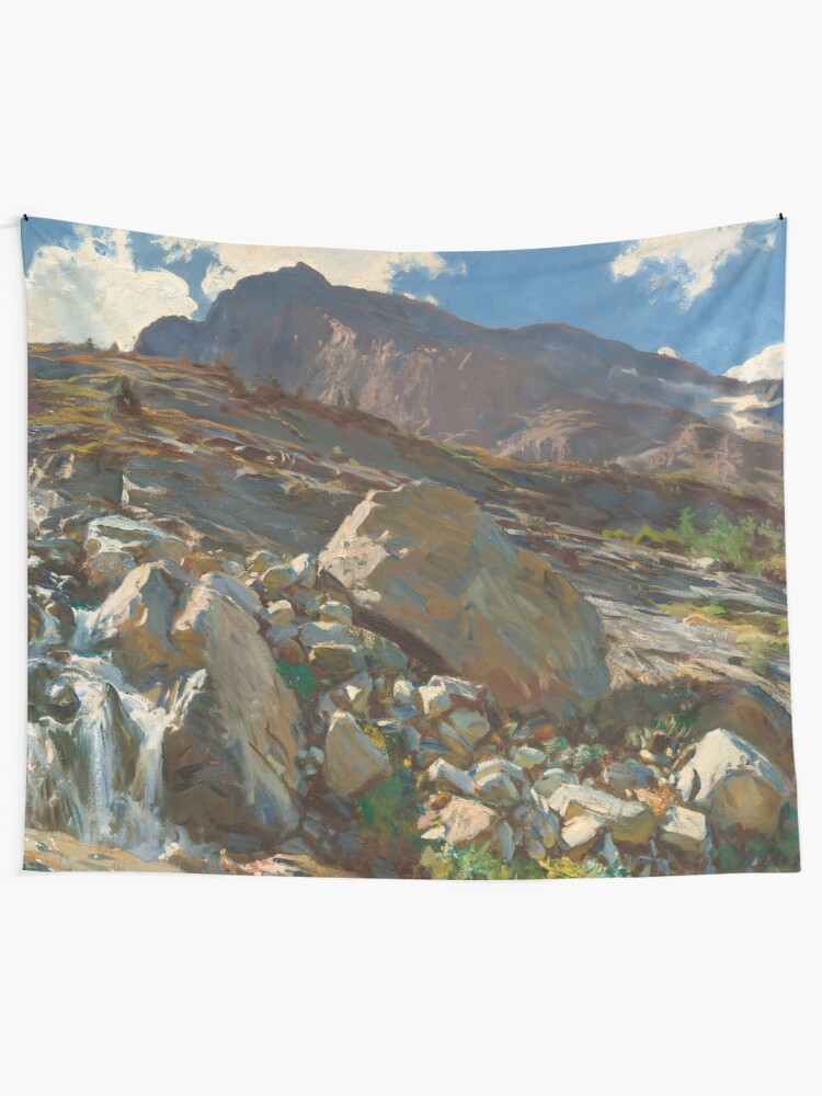 Alternate view of Simplon Pass Oil Painting by  John Singer Sargent Tapestry