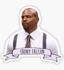 Ebony Falcon - brooklyn nine-nine - Terry jeffords Sticker