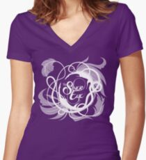 The Silver Eye Weavers Women's Fitted V-Neck T-Shirt