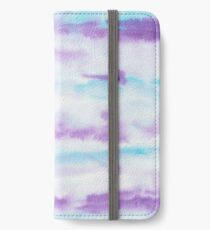 Abstract Brush Strokes Purple Blue & White iPhone Wallet/Case/Skin