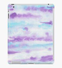 Abstract Brush Strokes Purple Blue & White iPad Case/Skin