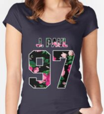Jake Paul - Colorful Flowers Women's Fitted Scoop T-Shirt