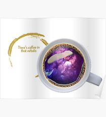 Nebula Coffee Poster