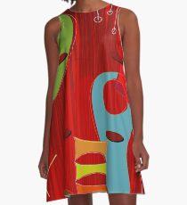 Retro Eames-Ära Atom inspiriert 6 A-Linien Kleid