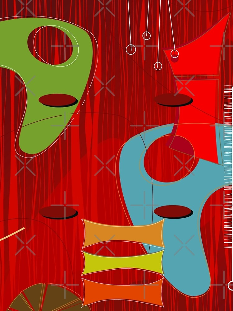 Retro Eames-Era Atomic Inspired 6 by Makanahele