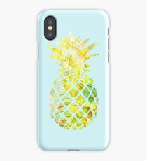 Pick A Pleasant Pineapple in Paradise #RBSTAYCAY #Sky #Blue #Tropical #Jungle #Summer #BeachParty iPhone Case
