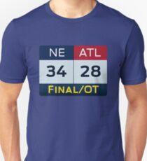 NE 34 ATL 28 Unisex T-Shirt