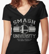 Smash University V2 Women's Fitted V-Neck T-Shirt