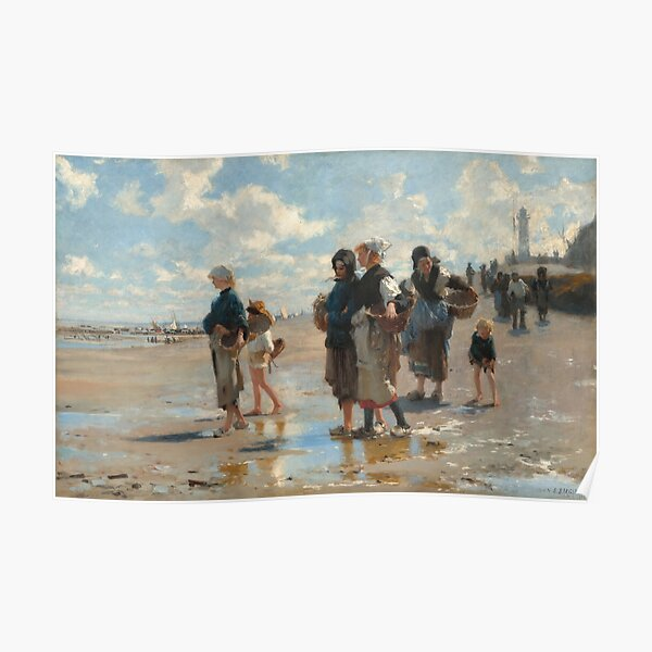 Setting Out to Fish Oil Painting by John Singer Sargent Poster