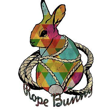"""Rope Bunny"" Shibari Japanese Rope Bondage (Color) by boundlesstees"