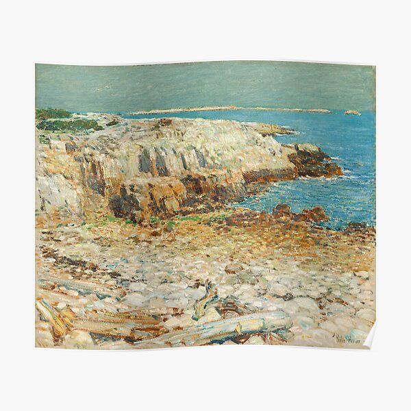 A North East Headland Oil Painting by Childe Hassam Poster