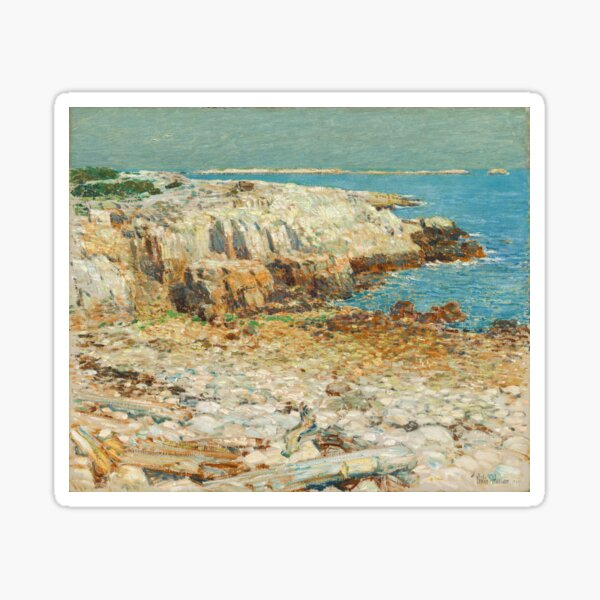 A North East Headland Oil Painting by Childe Hassam Sticker