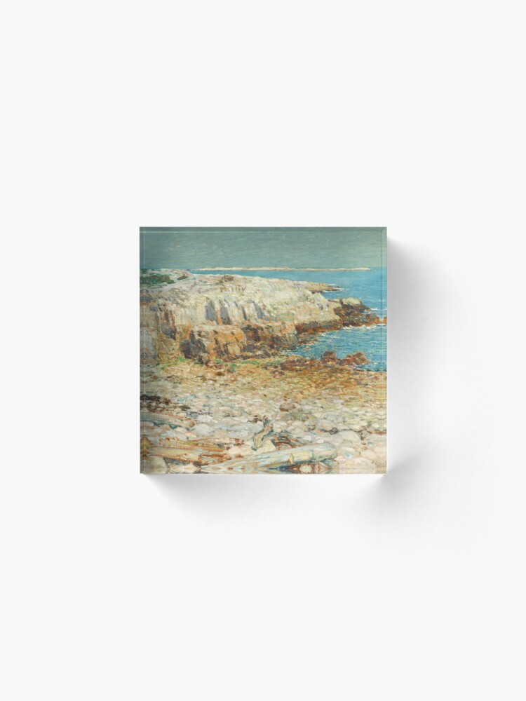 Alternate view of  A North East Headland Oil Painting by Childe Hassam Acrylic Block