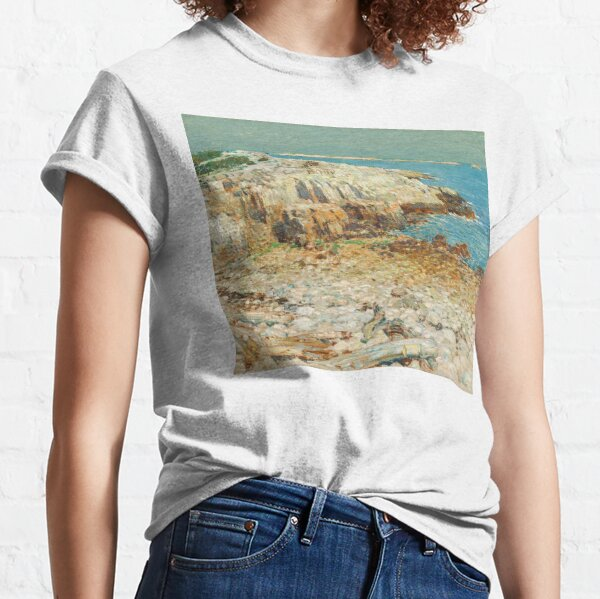 A North East Headland Oil Painting by Childe Hassam Classic T-Shirt