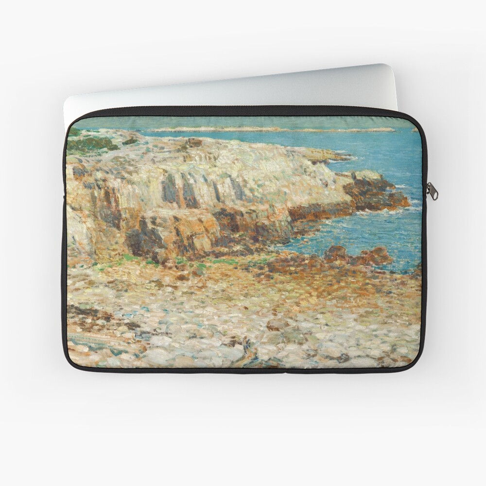 A North East Headland Oil Painting by Childe Hassam Laptop Sleeve