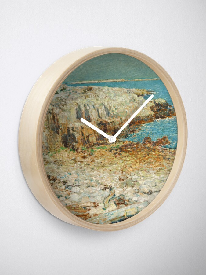 Alternate view of  A North East Headland Oil Painting by Childe Hassam Clock