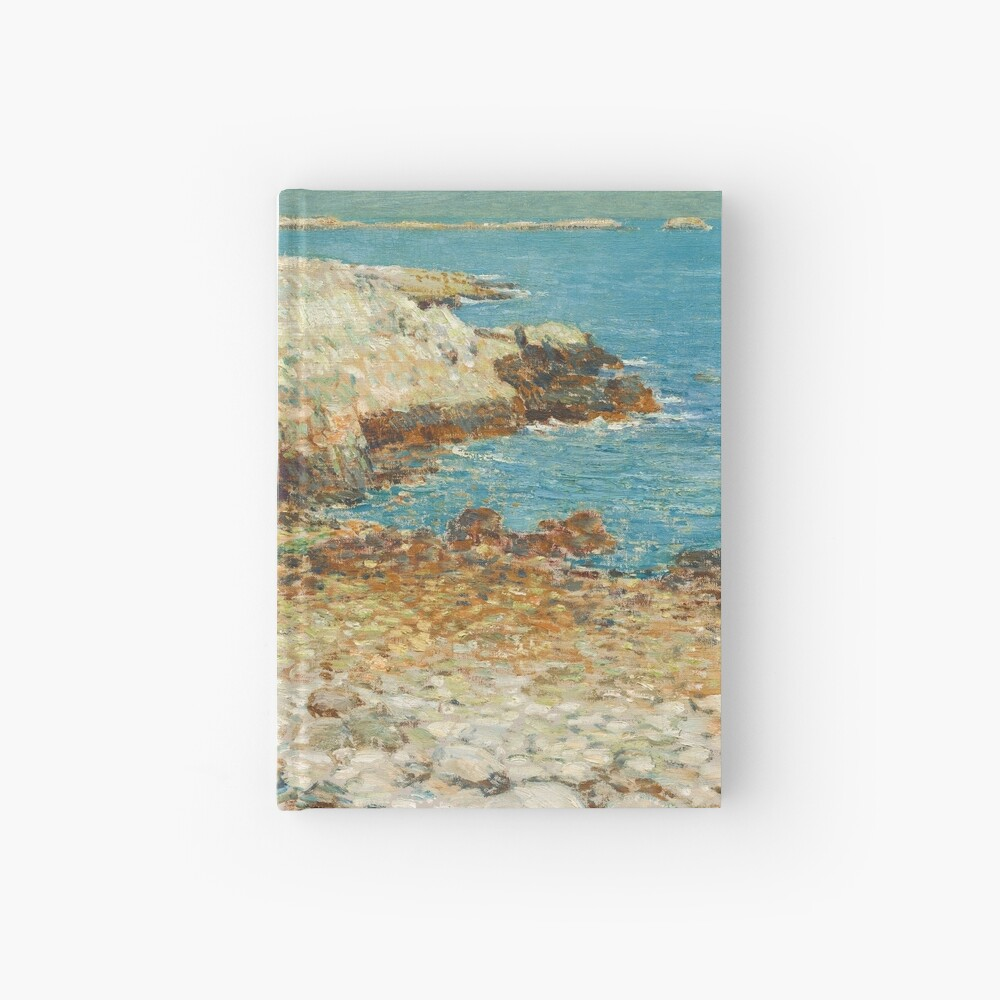 A North East Headland Oil Painting by Childe Hassam Hardcover Journal