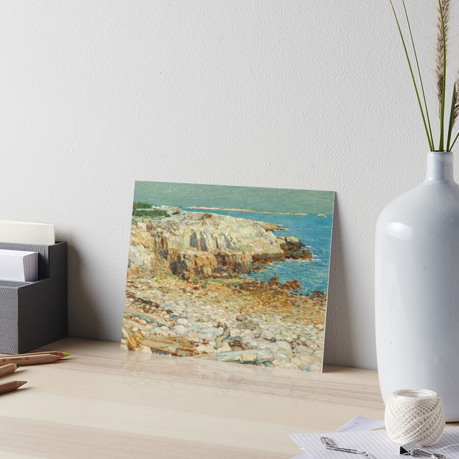 A North East Headland Oil Painting by Childe Hassam Art Board Print
