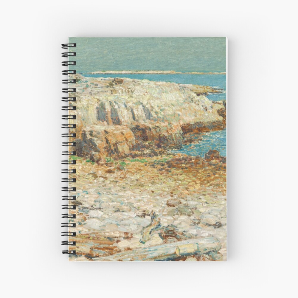 A North East Headland Oil Painting by Childe Hassam Spiral Notebook