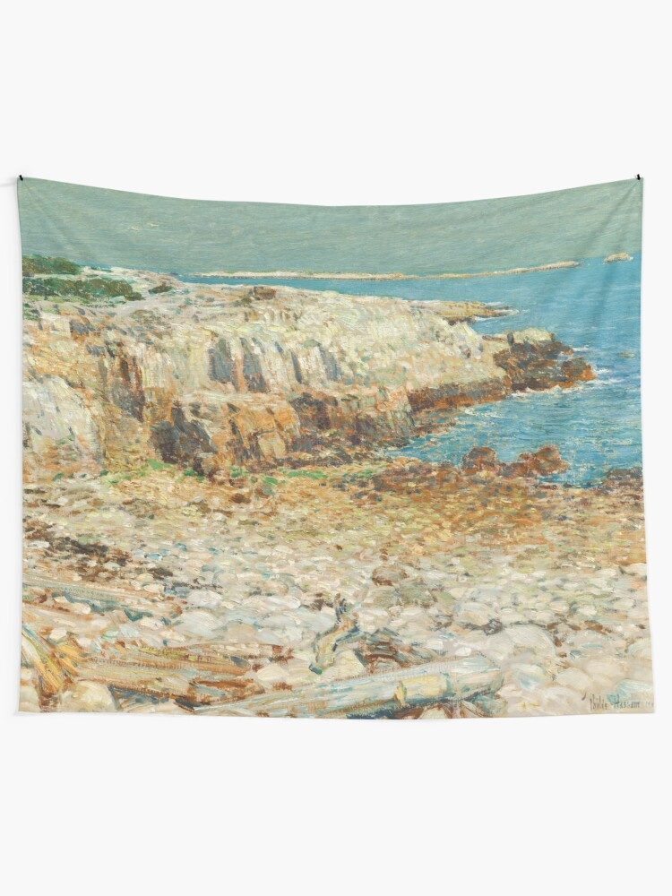 Alternate view of  A North East Headland Oil Painting by Childe Hassam Tapestry