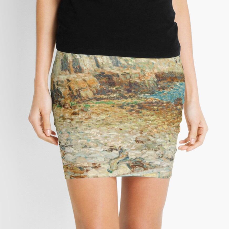 A North East Headland Oil Painting by Childe Hassam Mini Skirt