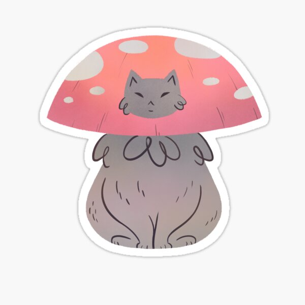 Fat Cat Meowshroom Sticker