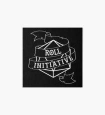 Roll Initiative - white Art Board