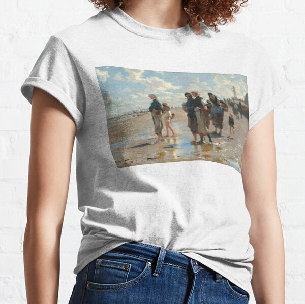 Setting Out to Fish Oil Painting by John Singer Sargent Classic T-Shirt