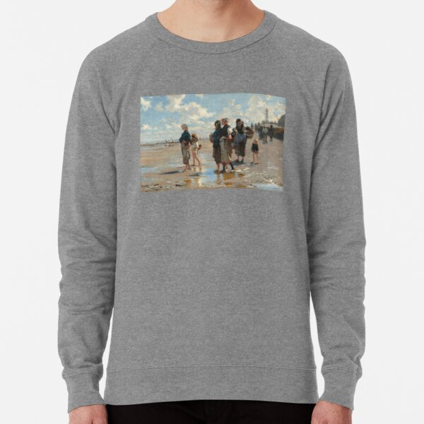Setting Out to Fish Oil Painting by John Singer Sargent Lightweight Sweatshirt