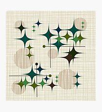 Eames Era Starbursts and Globes 1 (bkgrnd) Photographic Print