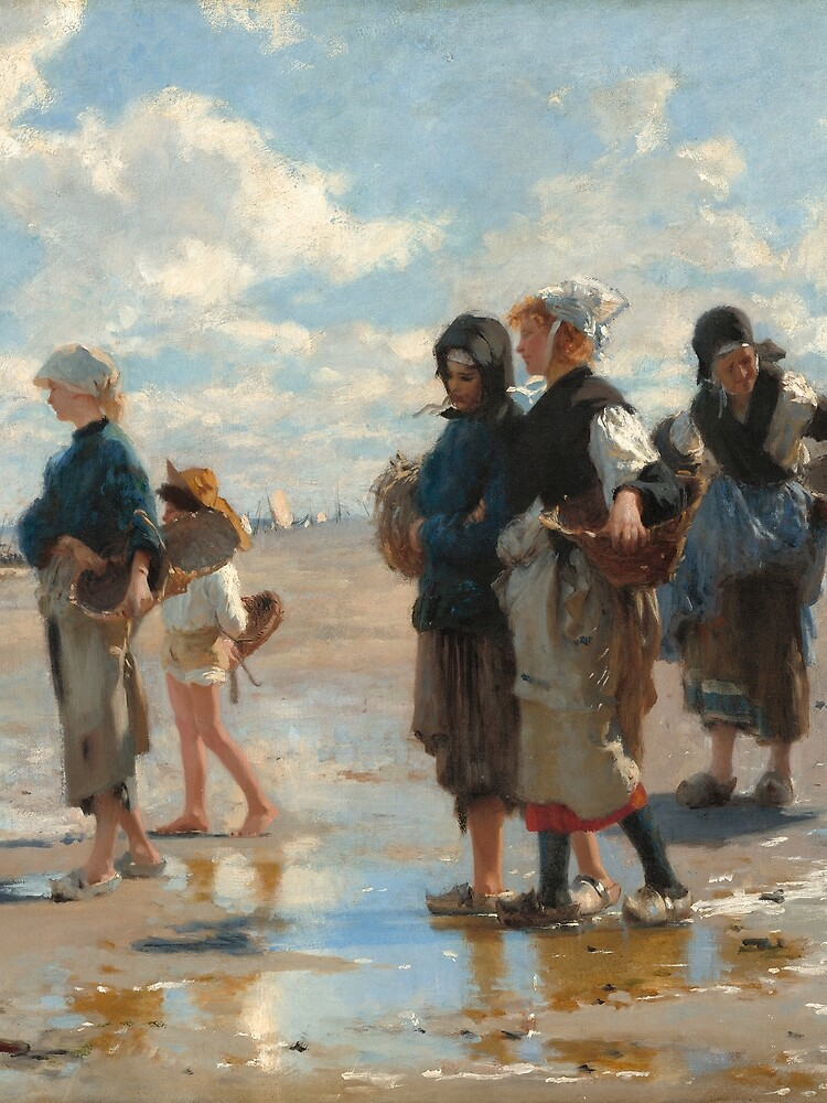 Setting Out to Fish Oil Painting by John Singer Sargent by podartist