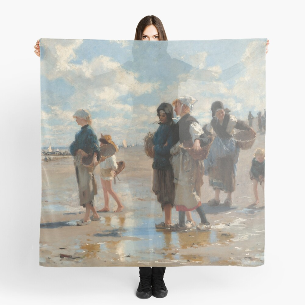 Setting Out to Fish Oil Painting by John Singer Sargent Scarf