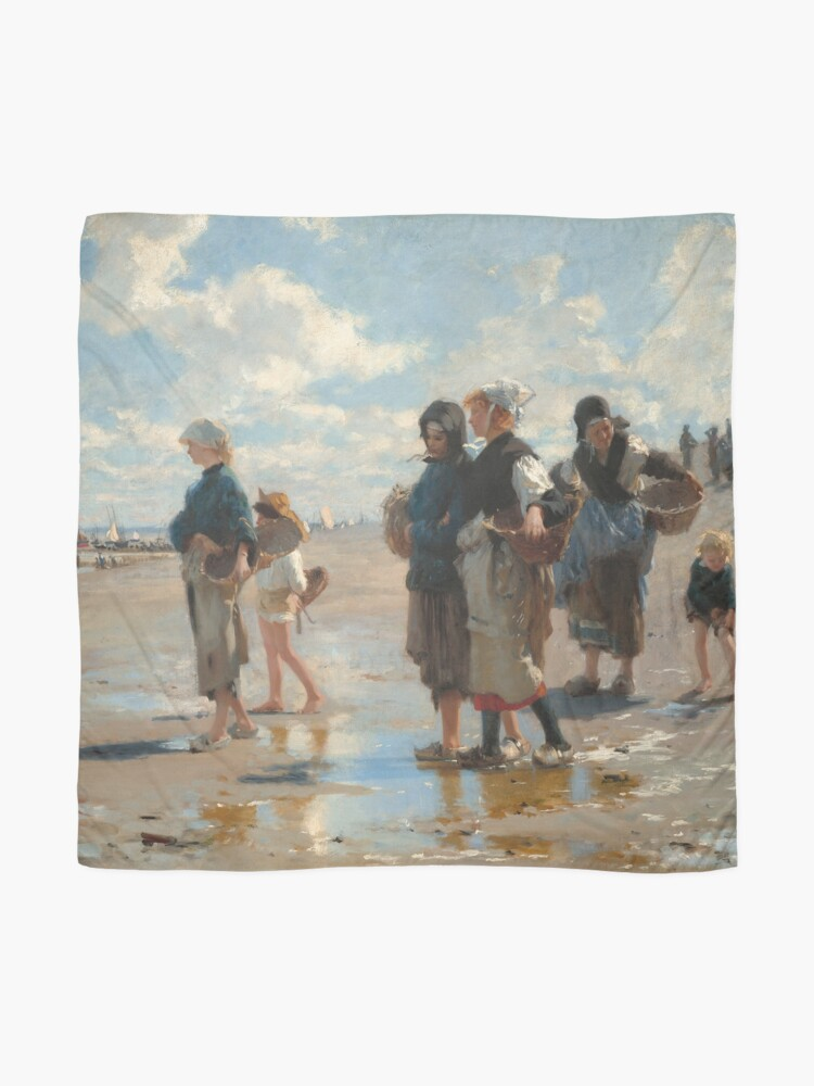 Alternate view of Setting Out to Fish Oil Painting by John Singer Sargent Scarf
