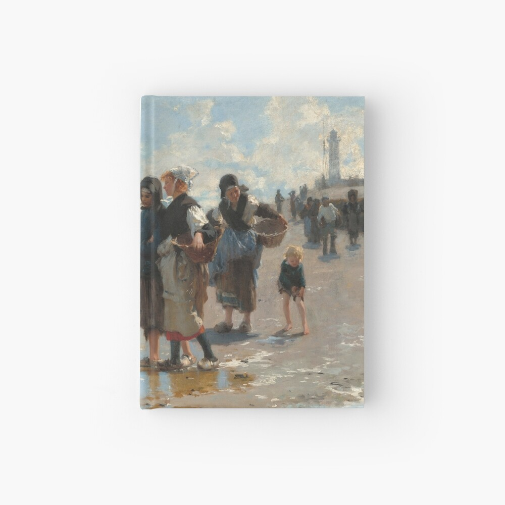 Setting Out to Fish Oil Painting by John Singer Sargent Hardcover Journal