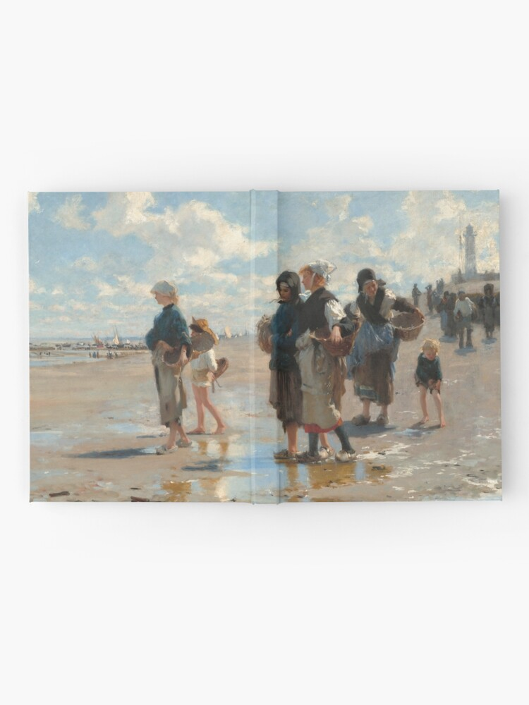 Alternate view of Setting Out to Fish Oil Painting by John Singer Sargent Hardcover Journal