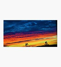 Fire Soaked Sky Photographic Print