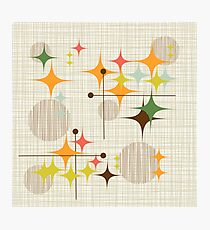 Eames-Ära Starbursts und Globen 3 (bkgrnd) Fotodruck