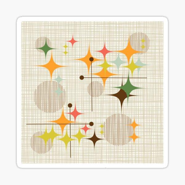Eames Era Starbursts and Globes 3 (bkgrnd) Sticker